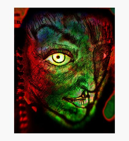 """Sketchbook Page 36, """"The Alien"""" Photographic Print"""