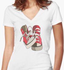 Hightops Women's Fitted V-Neck T-Shirt