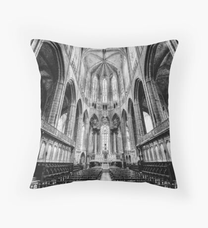 Narbonne Cathedral Throw Pillow