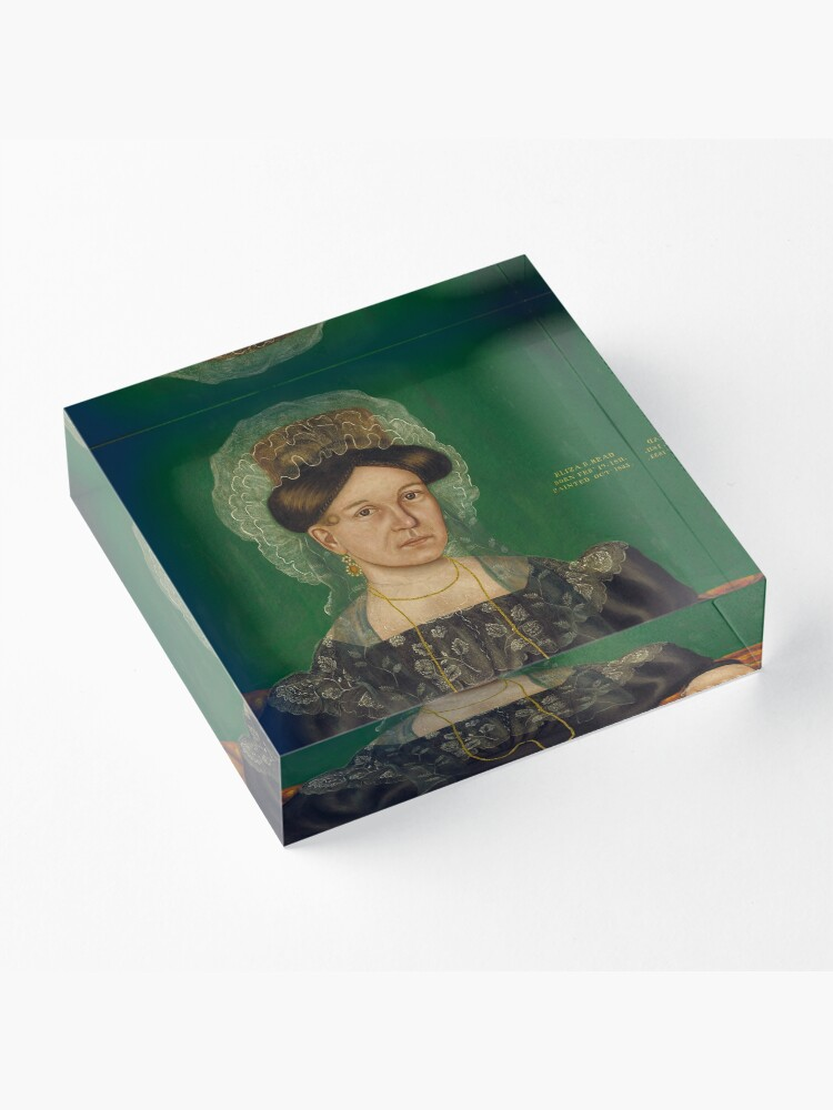 Alternate view of Eliza R. Read Oil Painting by Royall Brewster Smith Acrylic Block