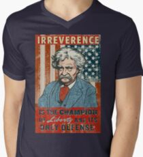 Mark Twain Irreverence & Liberty Men's V-Neck T-Shirt