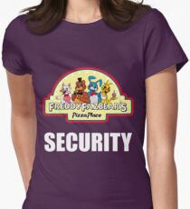 Five Nights at Freddy's - FNAF 2 -  Freddy Fazbear's Security Logo Women's Fitted T-Shirt