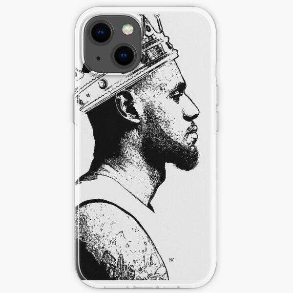 Merci! Dessin numérique King James par Nenyi Keborku Coque souple iPhone