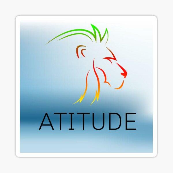 atitude dezine Sticker