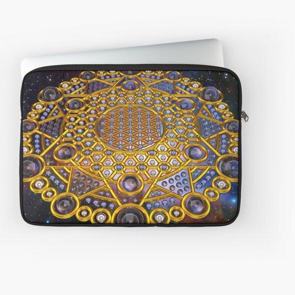 Flower of life Grid Healing Code Laptop Sleeve