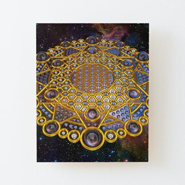 Flower of life Grid Healing Code Wood Mounted Print