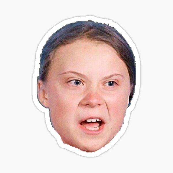 Grtee Thunberg Kopf Sticker