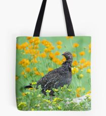 Dusky Grouse Standing Guard Tote Bag