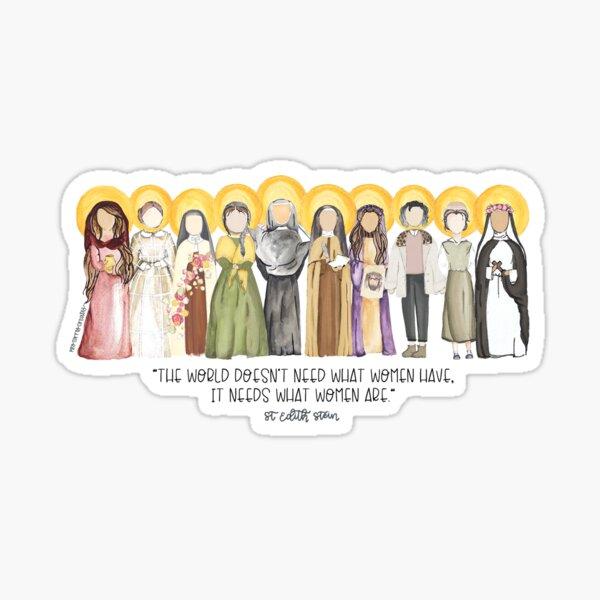 Mujeres santas Pegatina