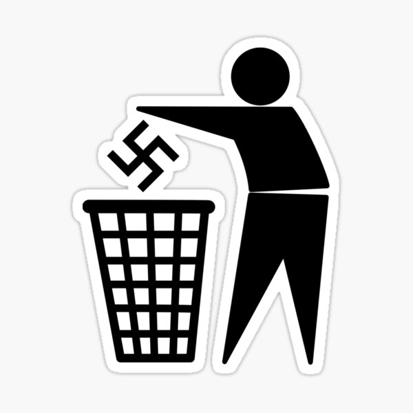 Chemise poubelle nazie Sticker