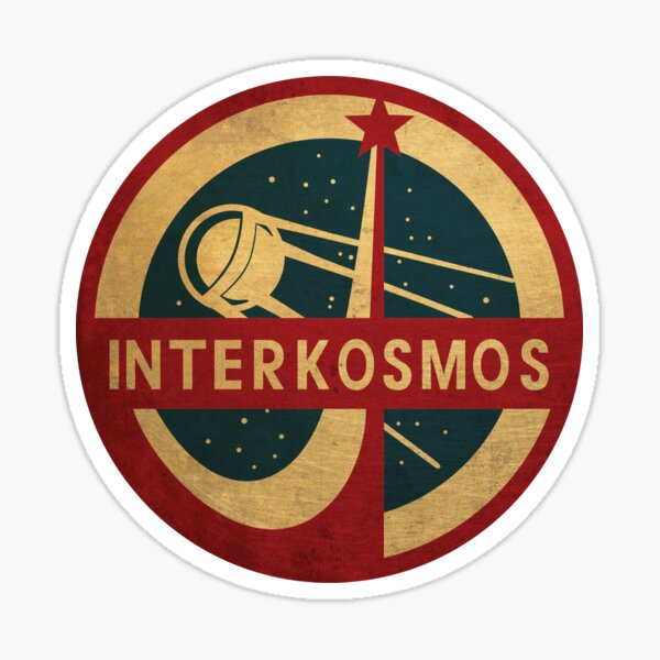 Programme spatial Interkosmos Vintage Spoutnik Satellite Sticker