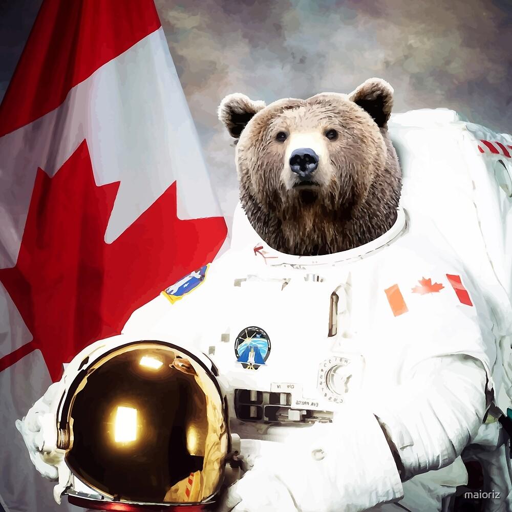 Canada Bear Astronaut by maioriz