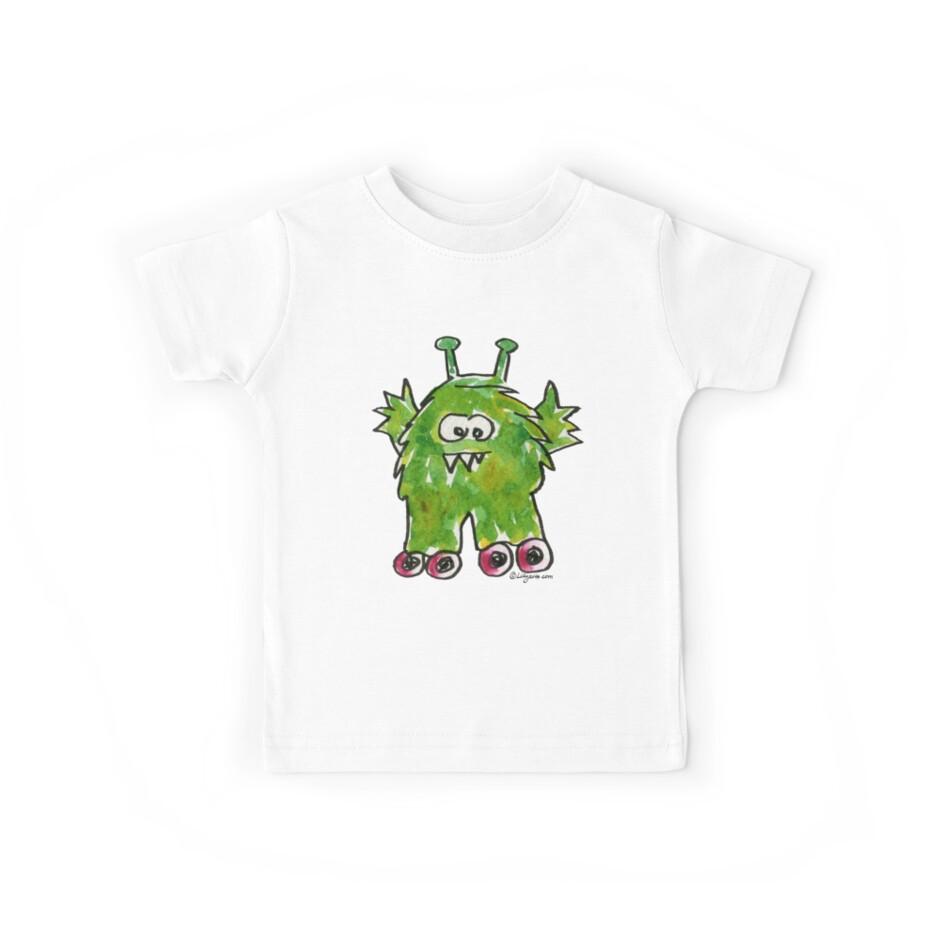Funny Cartoon Monstar Monster 011 by Lillyarts