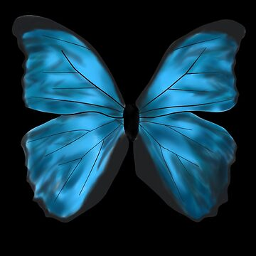 Blue Butterfly by ryanjhoe