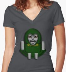 DoomDROID Women's Fitted V-Neck T-Shirt