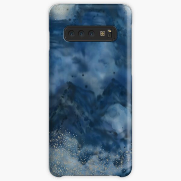 Bubbly Blue Mountains Ink Abstract Samsung Galaxy Snap Case
