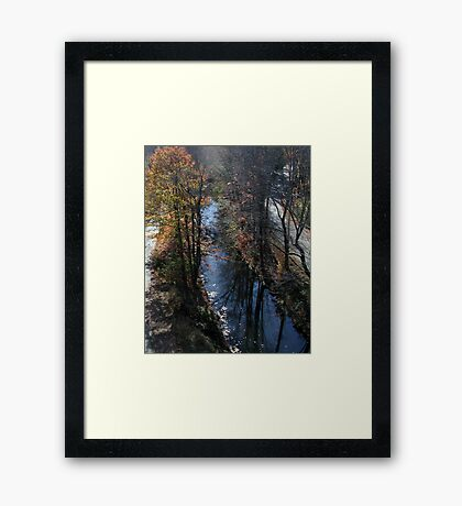 Blackstone Canal in Autumn Framed Print