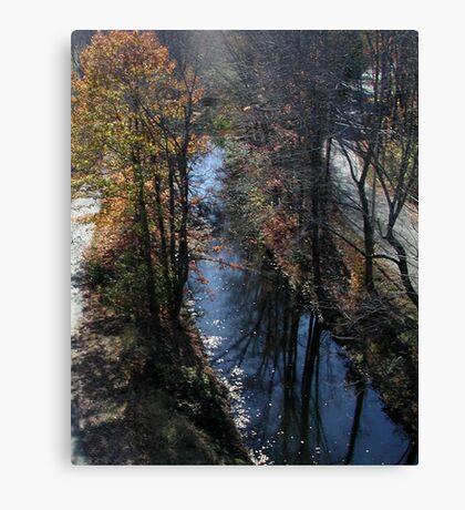 Blackstone Canal in Autumn Canvas Print