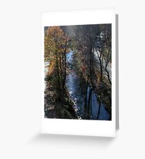 Blackstone Canal in Autumn Greeting Card