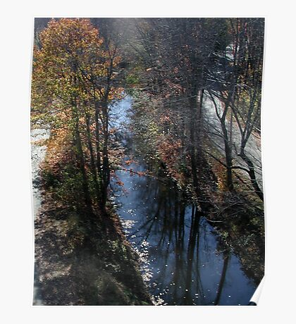 Blackstone Canal in Autumn Poster