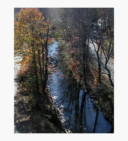 Blackstone Canal in Autumn Photographic Print