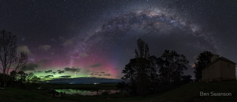 Aurora Australis and Milky Way 9th of September  by Ben Swanson