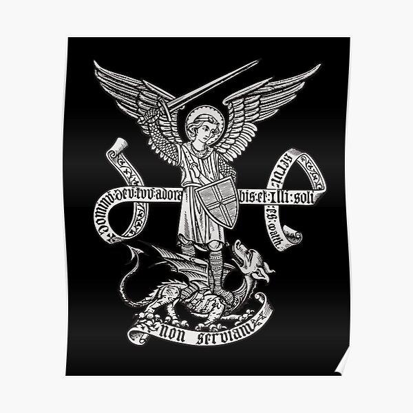 Saint St Michael Catholic Archangel Angel Defender Poster