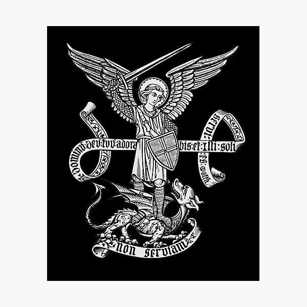 Saint St Michael Catholic Archangel Angel Defender Photographic Print