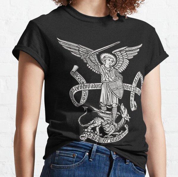 Saint St Michael Catholic Archangel Angel Defender Classic T-Shirt