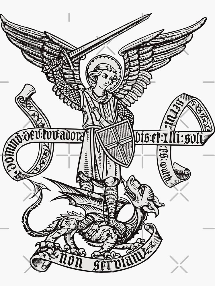 Saint St Michael Catholic Archangel Angel Defender by Beltschazar