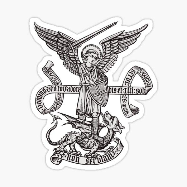 Saint St Michael Catholic Archangel Angel Defender Sticker