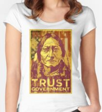Trust The Government Sitting Bull Women's Fitted Scoop T-Shirt