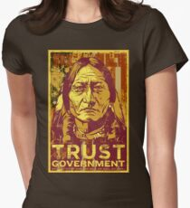 Trust The Government Sitting Bull Women's Fitted T-Shirt