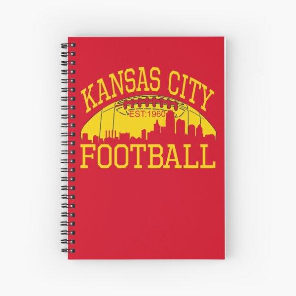 Kansas City Football KC Fan Red & Yellow Kc Football Kingdom Spiral Notebook