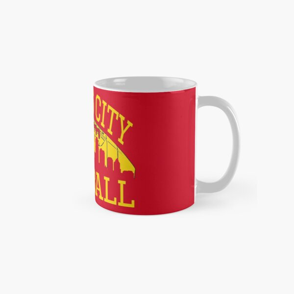 Kansas City Football KC Fan Red & Yellow Kc Football Kingdom Classic Mug