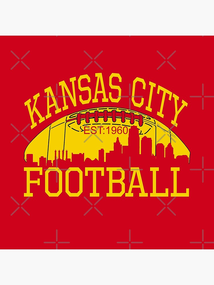 Kansas City Football KC Fan Red & Yellow Kc Football Kingdom by Bullish-Bear