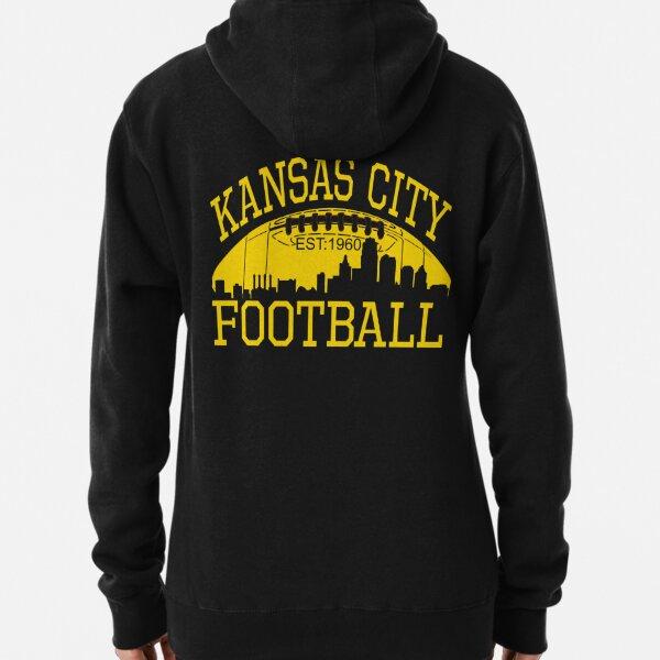 Kansas City Football KC Fan Red & Yellow Kc Football Kingdom Pullover Hoodie