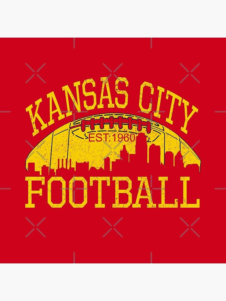 Vintage Classic Kansas City Football KC Fan Red & Yellow Kc Football Kingdom by Bullish-Bear