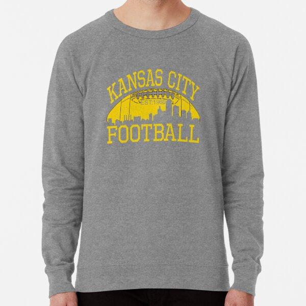 Vintage Classic Kansas City Football KC Fan Red & Yellow Kc Football Kingdom Lightweight Sweatshirt