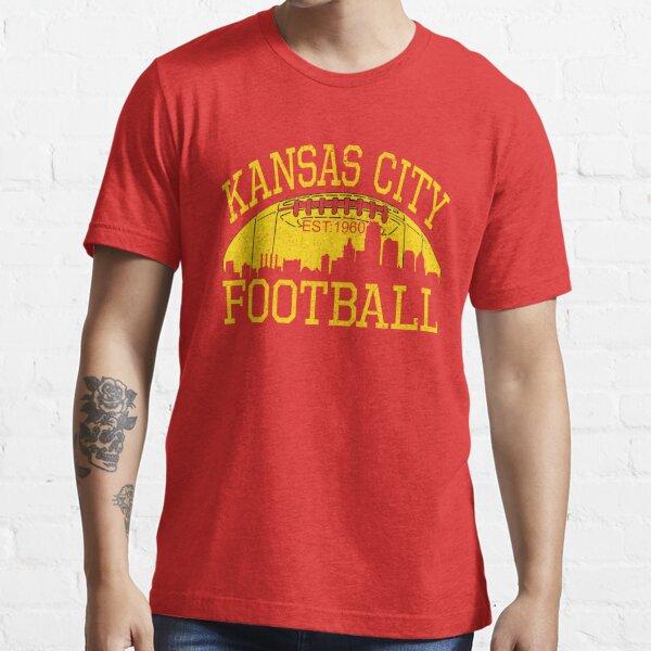 Vintage Classic Kansas City Football KC Fan Red & Yellow Kc Football Kingdom Essential T-Shirt