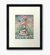 """Creekside Magic"" Mermaid Art by Molly Harrison Framed Print"