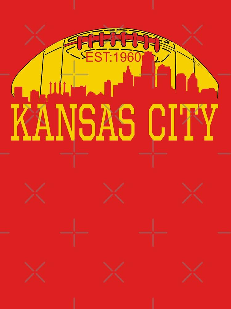 Red & Yellow KC Kansas City Football by Bullish-Bear