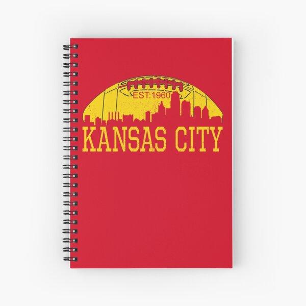 Classic Vintage Red & Yellow KC Kansas City Football Spiral Notebook