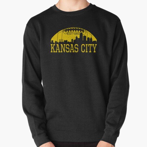 Classic Vintage Red & Yellow KC Kansas City Football Pullover Sweatshirt