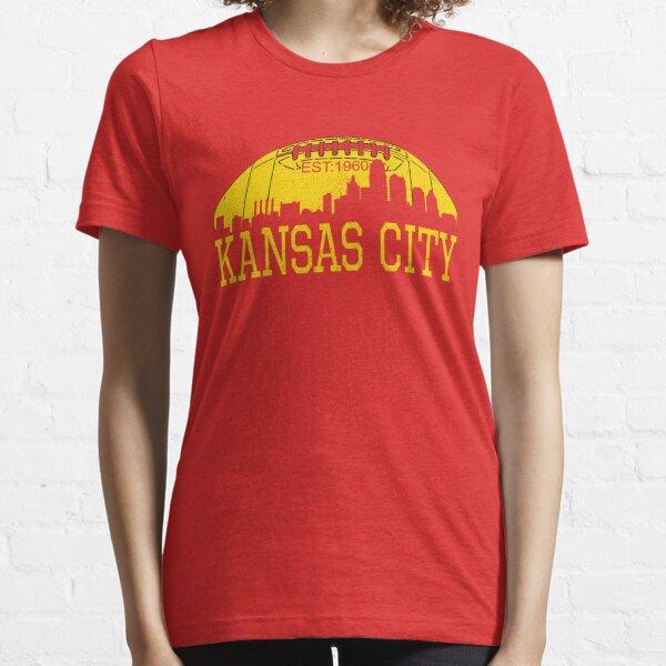 Classic Vintage Red & Yellow KC Kansas City Football Essential T-Shirt