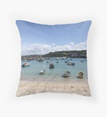 St. Ives Harbour Throw Pillow