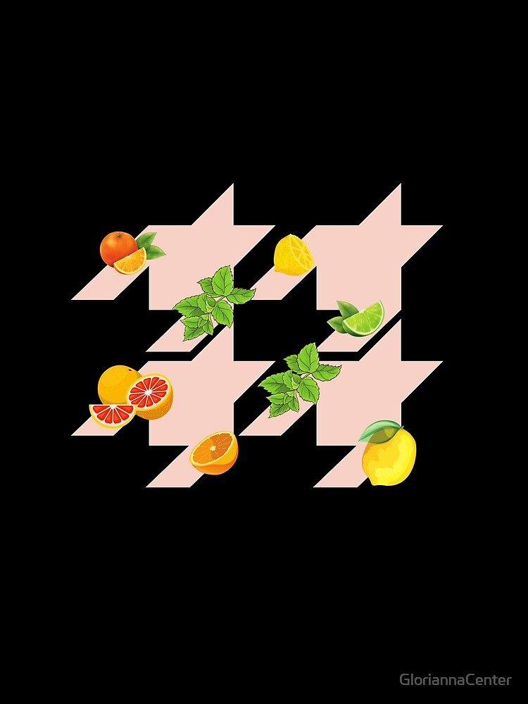 Houndstooth pattern with citruses by GloriannaCenter