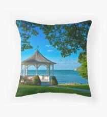 Niagara River Gazebo Throw Pillow