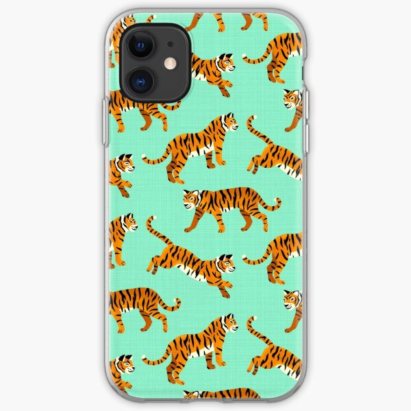 Bengal Tigers - Mint  iPhone Soft Case