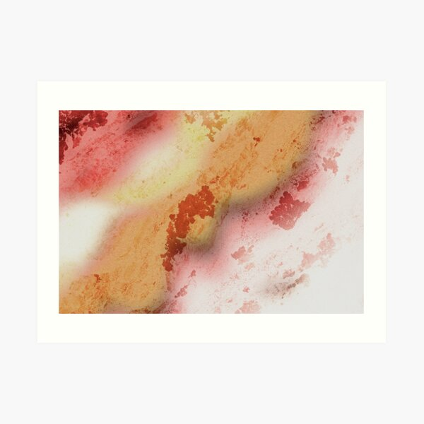 Red & Yellow abstract nature  Art Print